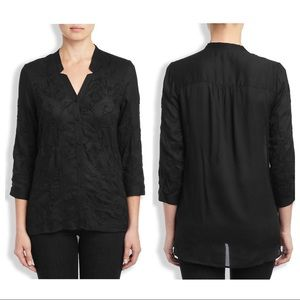 Lucky Brand Darcey Embroidered Top B…placket XS